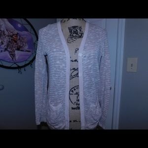 Rose gold cardigan with Lacey back